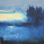 362 Abend,  Öl auf Leinwand, Ingrid Stolzenberg, 80 x 80 cm