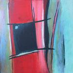 144 Im Blick haben,  Öl und Acryl auf Leinwand, Herta Reitz, 58 x 58 cm