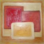 279 Karree M 16, Acryl auf Leinwand, Herta Reitz, 50 x 50 cm
