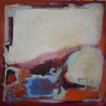 047 Nebelmond, Öl und Acryl auf Leinwand, Herta Reitz, 100 x 100 cm