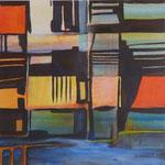 024 Ohne Titel III, Acryl auf Leinwand, Brigitte Reich, 60 x 60 cm