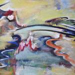 196 Farbenspiel IV, Acryl auf Leinwand, Herta Reitz, 60 x 80 cm