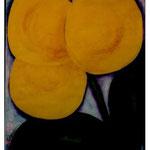 122 Flora Lemon, Acryl auf Papier, Herta Reitz, 90 x 70 cm