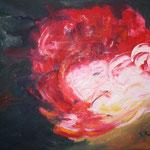 172 Blume, Öl auf Leinwand, Ingrid Stozenberg, 80 x 100 cm