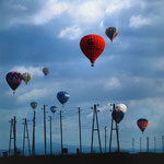 225 Ballonfahren 2, fine Art-tintenstrahldruck mit Epson K3 ultrachrom Pigmenttinten, Norbert Plösser, 50 x 50 cm