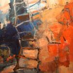 006 Jetzt los, Acryl/Öl auf Leinwand, Manfred Rüth, 80 x 100 cm