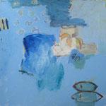268 Temperieren I, Mischtechnik auf Leinwand, Constanze Mende, 70 x 70 cm