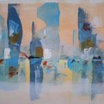 345 Spiegelung, Pan-Art auf Leinwand, Francoise Vanden Eede, 50 x 70 cm