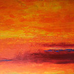 289 Sonne überm Horizont, Acryl auf Leinwand, Ilse Leineweber, 100 x 120 cm
