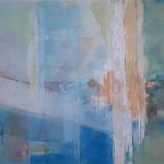 344 Meerestief, Pan-Art auf Leinwand, Francoise Vanden Eede, 125 x 75 cm