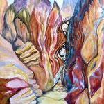 295 Sinai 3, Acryl auf Leinwand, Helma Steppan, 100 x 80 cm