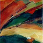 054 Gelbes Feld, Acryl auf Leinwand, Brigitte Reich, 100 x 80 cm