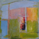 188 Ohne Titel, Acryl auf Leinwand, Gitta Junge, 60 x 60 cm