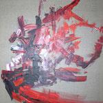 009 Rot, Öl auf Leinwand, Ingrid Stolzenberg, 100 x 80 cm