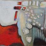 322 Garten der Lüste II, Öl und Acryl auf Leinwand, Herta Reitz, 80 x 100 cm