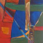 003 II Abstraktionen, Acryl auf Leinwand, Brigitte Reich, 60 x 60 cm