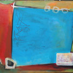 080 Farbenspiel 5b, Öl und Acryl auf Leinwand, Herta Reitz, 76 x 116 cm