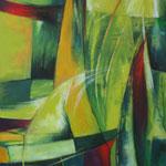 283 In Bewegung, Acryl auf Leinwand,  Karin Lesser-Köck, 100 x 70 cm