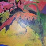 066 Flower power I, Acryl auf Leinwand, Gabriela Dehmer, 90 x 60 cm