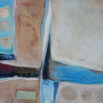 028 Vor dem Blau,  Öl und Acryl auf Leinwand, Herta Reitz, 80 x 100 cm