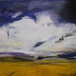 041 Rappsfelder, Acryl auf Leinwand, Heide Göbel, 70 x 90 cm