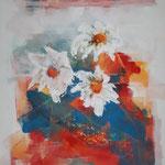 343 Marguerite, Acryl auf Leinwand, Francoise Vanden Eede, 100 x 70 cm
