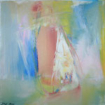 110 Ohne Titel, Acryl auf Leinwand, Gitta Junge, 50 x 50 cm
