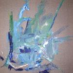 010 Blau, Öl auf Leinwand, Ingrid Stolzenberg, 100 x 80 cm