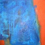 065 Blaues Blau, Acryl auf Leinwand, Gabriela Dehmer, 70 x 70 cm