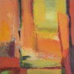 187 Herbst I,  Acryl auf Leinwand, Brigitte Reich, 50 x 50 cm