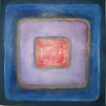 292 Karree M 14, Öl und Acryl auf Leinwand, Herta Reitz, 50 x 50 cm