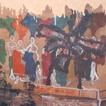 259 Moulin Rouge,  Acryl auf Leinwand, Wolf Pannitschka, 80 x 100 ccm