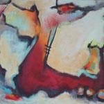 244 Echo, Öl und Acryl auf Leinwand, Herta Reitz, 80 x 100 cm