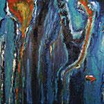 011, Vision, Strukturarbeit/Acryl auf Leinwand, Elsa von Blanc, 80 x 100 cm
