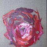 075 Rose, Öl auf Leinwand, Ingrid Stolzenberg, 70 x 50 cm