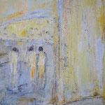 002 Vorstellung, Acryl und Pastell auf Leinwand, Gitta Junge, 70 x 50 cm