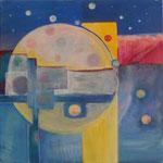 155 Kreisgeschichten III, Acryl auf Leinwand, Brigitte Reich, 60 x 60 cm