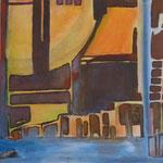 024 Ohne Titel I, Acryl auf Leinwand, Brigitte Reich, 60 x 60 cm