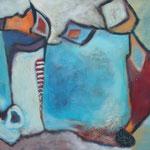 316 Frarbenspiel IV, Öl und Acryl auf Leinwand, Herta Reitz, 65 x 80 cm