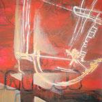 163 Samba, Acryl auf Leinwand, Wolf Pannitschka, 70 x 50 cm