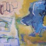 137 Gleichgewichtsübung, Öl und Acryl auf Leinwand, Manfred  Rüth, 100 x 130 cm