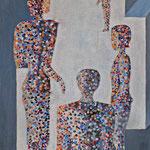 358 Adaption, Acryl auf Leinwand, Gisela Stein, 100 x 50 cm