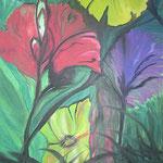 238 Blumen, Acryl auf Leinwand, Marie-Luise Neugebauer, 120 x 100 cm
