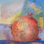 086 Paradiesapfel 1, Acryl auf Leinwand, Brigitte Reich, 60 x 60 cm