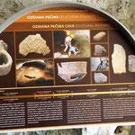 Schautafel Höhle Ozidana pecina
