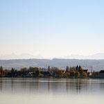 Zeller See mit Blick auf die Reichenau.