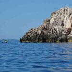 Mit dem Kanu entlang der Küste von Peljesac