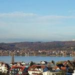 Blick über die Reichenau vom Aussichtspunkt Hochwart.