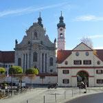 Blick auf das Kloster Zwiefalten.