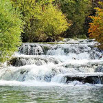 Rastoke - Wasserfall am Restaurant